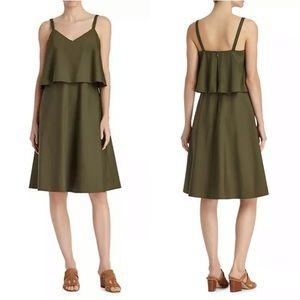 Lafayette 148 New York Green Layered Riri Dress